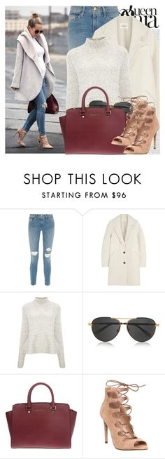 """""""2121. Blogger Style: Brooklyn Blonde"""" by chocolatepumma ❤ liked on Polyvore featuring Frame Denim, Oris, Étoile Isabel Marant, Derek Lam, The Row, MICHAEL Michael Kors and Office"""