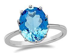 LALI Classics 14kt Swiss Blue Topaz Oval Ring