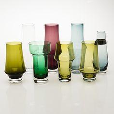 A set of eight Finnish glass vases from Riihimäen Lasi - Bukowskis