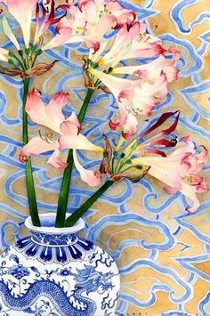 Gabby Malpas - Belladonnas in a vase - Watercolour