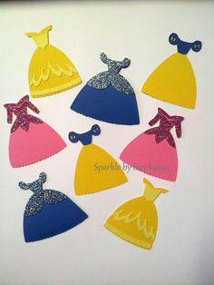 Disney Princess Die Cuts   2.5 Dresses  by sparklebystephanie, $3.25