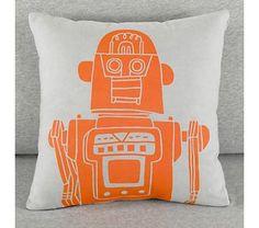 Kids Throw Pillows: Kids Robot Throw Pillows