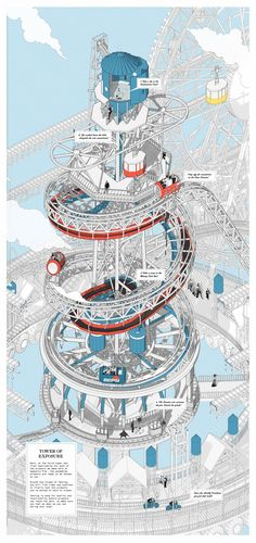 Pin by jesoc jodey on future city Factory Architecture, City Architecture, Architecture Graphics, Architecture Drawings, Architecture Illustrations, Architecture Diagrams, Architecture Portfolio, Future City, Blue Tower