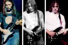 The evolution of Gimour's Black Stratocaster. So many great PF songs were played with this guitar.