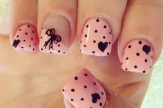 Heart Nail Designs Pretty in pink nail art. Polka dots, bows, and hearts ❤️Pretty in pink nail art. Polka dots, bows, and hearts ❤️ Heart Nail Art, Dot Nail Art, Pink Nail Art, Polka Dot Nails, Heart Nails, Pink Nails, Polka Dots, Gel Nails, Acrylic Nails