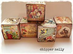 More vintagy vintage nursery blocks