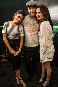 Nikki Reed, Peter Facinelli, Elizabeth Reaser    Family fun. Twilight stars Nikki Reed (rocking a cool striped Lady and the Sailor tee and leather Robert Rodriguez pencil skirt combo), Peter Facinelli and Elizabeth Reaser snuggled in close for an adorable photo.