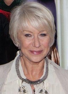 Helen Mirren-Classy Celebrity Hairstyles for Women with Gray Hair l www.sophisticatedallure.com