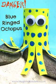 Blue Ringed Octopus craft for kids.