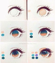 art dibujos howtomanga if youre a Manga Artist Source # Eye Drawing Tutorials, Digital Painting Tutorials, Digital Art Tutorial, Drawing Techniques, Art Tutorials, Realistic Eye Drawing, Drawing Eyes, Eye Drawings, Pencil Drawings