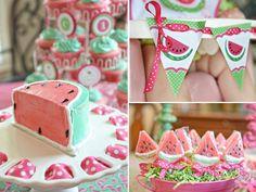 First birthday girl watermelon theme