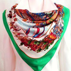 134 best Hermes scarves images on Pinterest   Hermes scarves, Silk ... a6f7c069e2d