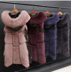 We will resolve the problem until you are satisfied. Fox Fur Vest, Vest Coat, Fur Jacket, Fur Coat, Faux Fur Collar, Fur Collars, Winter Jackets Women, Coats For Women, Fur Waistcoat