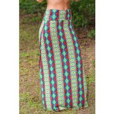 Free Life Maxi Skirt-Tribal - $32.00
