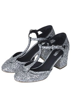 JOYFUL Glitter T-bar Heels - New In This Week - New In - Topshop USA