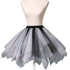 Wedtrend 1950s Short Vintage Petticoat Ballet Bubble Tutu Black-White S/M Wedtrend