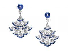 Sapphire and pavé diamond earrings from the Bulgari Bvlgari Diva collection