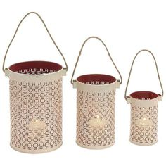 Lantern Candle Holder 3-piece Set (6885 RSD) ❤ liked on Polyvore featuring home, home decor, candles & candleholders, multicolor, colored lanterns, set of three candle holders, set of 3 candlesticks, colored candles and set of 3 candle holders