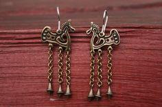 Medieval Earings Viking Sca Bronze Earings Elven Earings Medieval ...