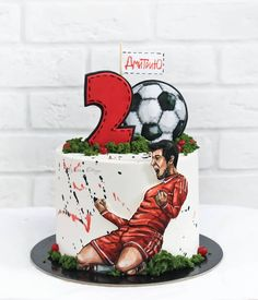 Soccer Birthday Cakes, Soccer Cake, Fondant Cake Designs, Fondant Cakes, Beautiful Cakes, Amazing Cakes, Liverpool Cake, Dad Cake, Cake Decorating Set
