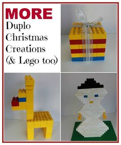 Get the kids involved in the Christmas decorating, have them use their Duplo to make Christmas themed characters.