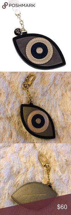 ⚡️sale⚡️DVF Evil Eye Bag Charm Keychain Authentic DVF evil eye bag charm in silver, gold, black, & blue. Like new, in excellent condition, rarely used. Reasonable Offers Welcome 🙃 Diane von Furstenberg Accessories Key & Card Holders