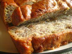 Simple Banana Bread - 4 bananas (ripe) 2/3 cup sugar 4 tbsps water 1 tsp vanilla 2 cups whole wheat flour 1 tsp baking powder 1/2 tsp salt