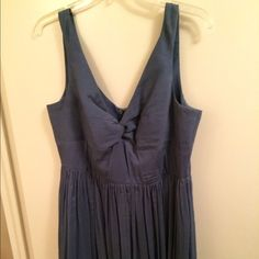 """J. Crew bridesmaid dress Dusty blue J. Crew bridesmaid dress. Flattering v-neck style. Only worn once and dry-cleaned. 100% silk. Measures 41"""" from top of shoulder to hem. Fully lined and back zip. Great for a bridesmaid or wedding guest! J. Crew Dresses Wedding"""