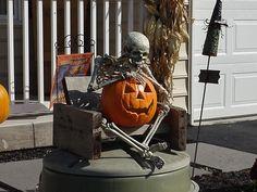 Like the skeleton holding the jack-o-lantern