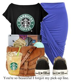 """""""Starbucks"""" by nenethenerd ❤ liked on Polyvore featuring NARS Cosmetics, Eos, Warehouse and Converse"""