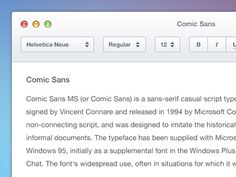 Text Editor designed by Robbert Esser. Connect with them on Dribbble; Text Editor, Helvetica Neue, Script Type, Comic Sans
