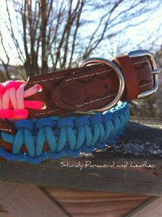 Strong Adjustable Dog Collar with name tag  by CJWOODCRAFTS, $19.00