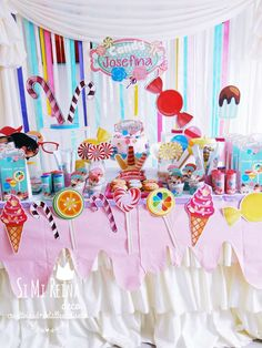 Colorful candy birthday party! See more party planning ideas at CatchMyParty.com!
