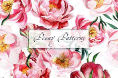 Watercolor Peony patterns by lilisavelieva on Watercolor Peony, Watercolor Pattern, Peonies, Doodles, Patterns, Creative, Flowers, Block Prints, Royal Icing Flowers