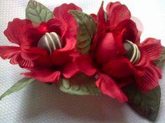Forminhas para doces finosObra de Arte: Lindas forminhas vermelhas C038 para um casamento ...