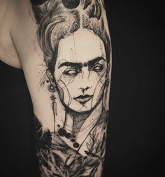 Frida & awesome tattoo