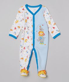 Loving this Blue Circus Footie - Infant on #zulily! #zulilyfinds