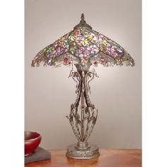 Dale Tiffany TT101399 Evergreen Floral Tiffany Table Lamp