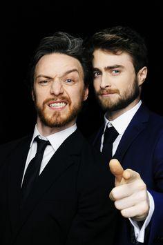 James McAvoy & Daniel Radcliffe. The Jameson Empire Awards 2015