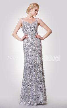 Unique Spaghetti Straps V-neck Sequined Long Prom Dress 2016. Sequin prom dress, beaded prom dress, vintage prom dress 2016, two-pieces prom dress, satin prom dress, long prom dress, elegant prom dress, follow us to get more special offer! #DorisWedding.com