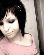 Short Punk Style Haircuts Straight short emo girl hair.
