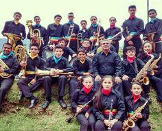 La banda fiestera del municipio de Gutiérrez que nos acompañó durante el cumpleaños de Cundinamarca