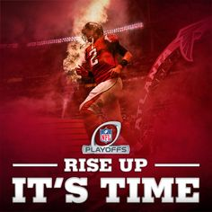Falcons will face the Seahawks 1 pm Jan. in the Georgia Dome for the divisional round of the playoffs. Rise Up, Atlanta! Falcons Football, Football Team, Atlanta Falcons Rise Up, Nfc South, Nfl Playoffs, Football Conference, University Of Georgia, Georgia Bulldogs, Gaming