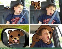 internet memes - Classic: Boy Door Bear Hook Car Door