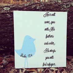He will cover you with His feathers and under by RaindropsOnRosesB, $30.00