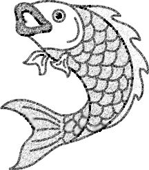 Japanese Koi~ the way the fish curved. could be viewed at any angle when put together for reso