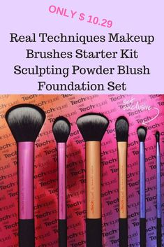 $ 10.29 hurry Real Techniques Makeup Brushes Starter Kit Sculpting Powder Blush Foundation Set www.pinterest.com/weddingnoosa Affiliate link purchases made through some pins may result in compensation at No cost to you Real Techniques Makeup Brushes, Foundation Sets, Starter Kit, Sculpting, Powder, Blush, Hair Beauty, Hair Accessories, Rouge