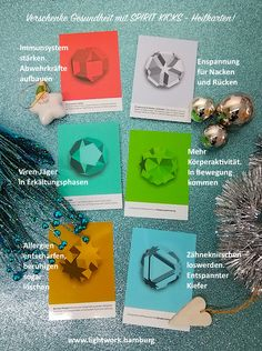 Gesunde Geschenkideen zum Fest! Geschenke mit Sinn. Die Heilkarten aus der Lichtsprache fördern gezielt die Selbstheilungskräfte. Sofort anzuwenden. Einzeln bestellbar im Lightwork-Shop. Shops, Language, Cards, Gifts, Tents, Retail, Retail Stores