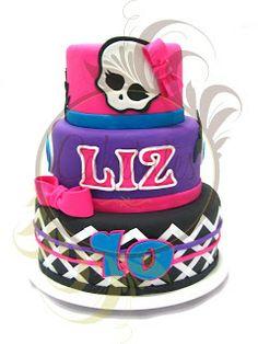 Caketutes Cake Designer: Bolo Monster High Liz - Monster High Cake