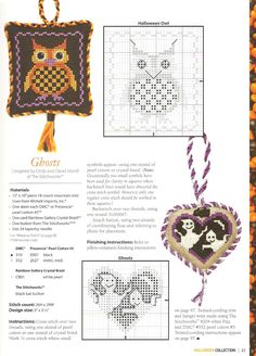 Halloween Owl Cross Stitch